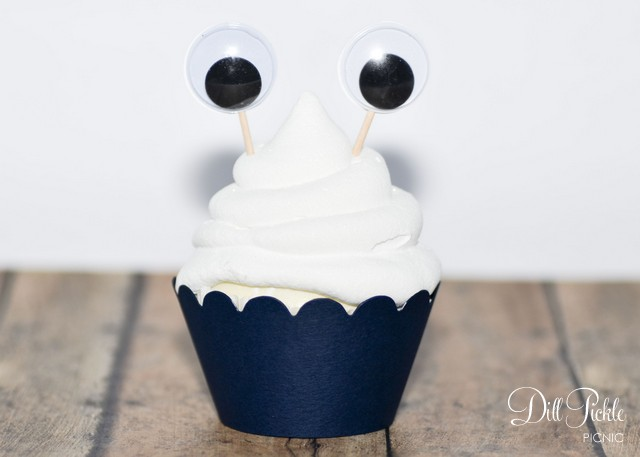 Monster Cupcake Eyes from Dill Pickle Picnic